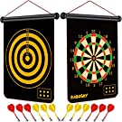 RaboSky Dart Game Toy for Boys Age 6 7 8 9 10 11 12 Year Old, Boys Birthday Gifts for Age 6 to 12 Year Old, Safe Magnetic Dart Board for Kids, 12PCS Magnetic Darts