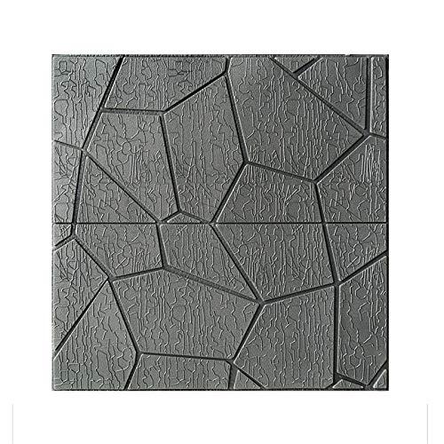 LRZS Wandpaneel Badezimmer Foam Weiß Brick wasserdichte Wandpaneele schälen und Stick DIY 3D Wallpaper for Wohnzimmer Schlafzimmer-Hintergrund-Wand-Dekor Moderne (Color : Gray, Size : 10PCS)