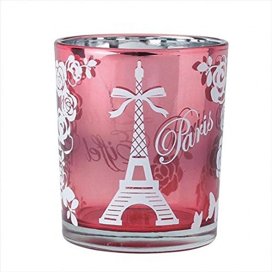 デュアル鷹統計的カメヤマキャンドル(kameyama candle) エッフェル塔オーロラカップ 「 ピンク 」
