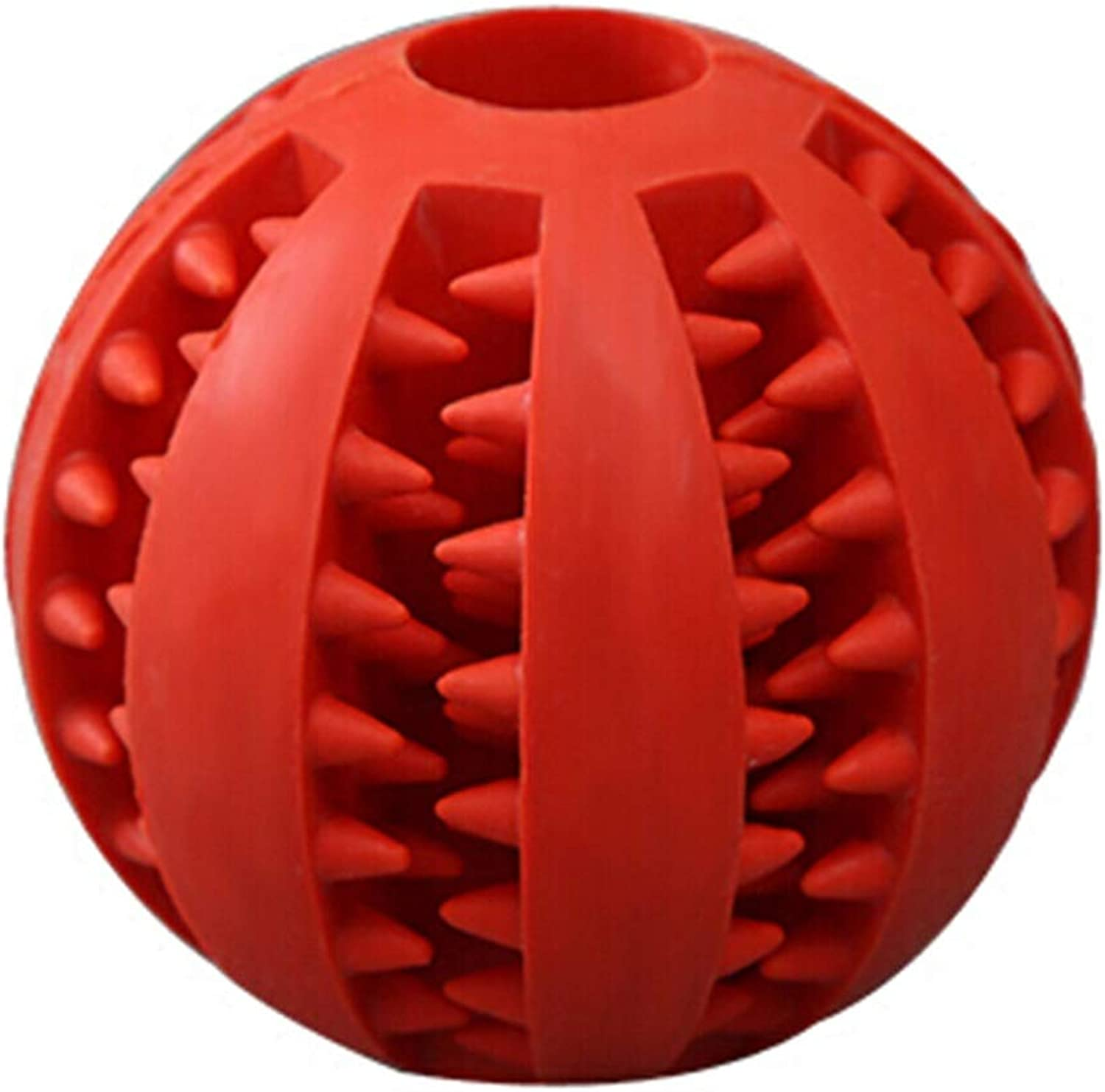 Jiu Si Dog Toys Biting Large Dogs Molars Teeth Elastic Rubber Balls Teddy golden Hair Labrador Pet Training Supplies Watermelon Balls pet Toy (color   Red, Size   5 cm in Diameter)