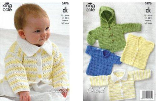 King Cole Crochet Pattern 3476 :...