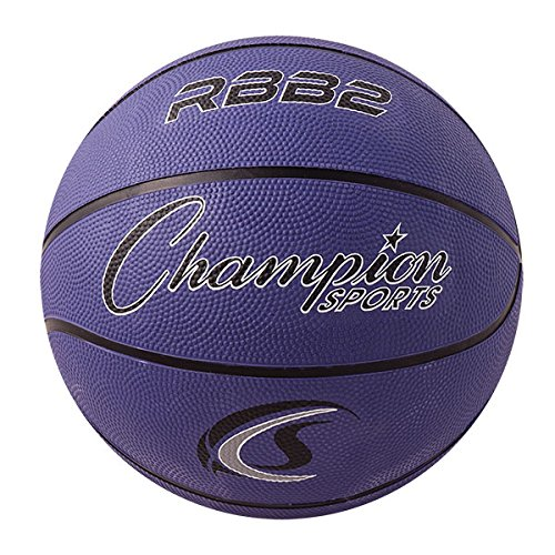 Review Champion Sports Official Heavy Duty Rubber Cover Nylon Basketballs, Junior (Size 5 - 27.5), ...