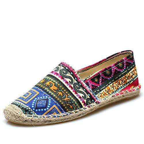 Hombres Alpargatas cáñamo Zapatos Verano Lona Zapatos Hombres Mocasi