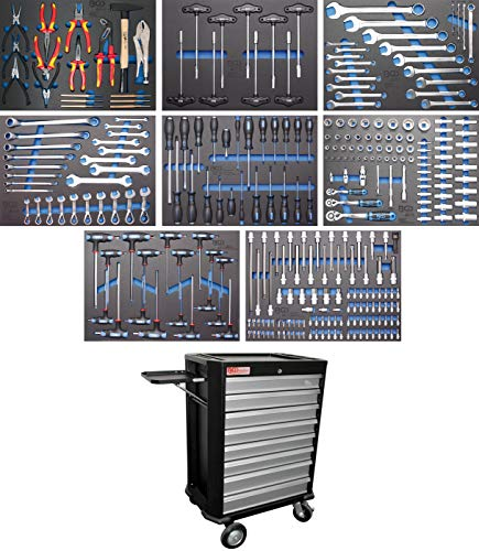 BGS technic 4050 Werkstattwagen 8 Schubladen mit 296 Werkzeugen