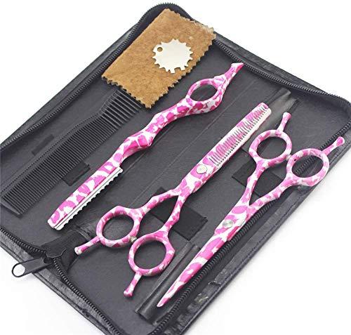 Conjunto de Tijeras de 5,5 Pulgadas para peluquería Tijeras de peluquería Tijeras de Corte Plano Conjunto de Herramientas de Pelo de Tijeras para Cabello