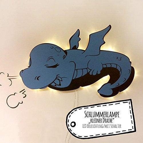 ilka parey wandtattoo-welt® Lampe Wandlampe Kinderlampe Schlummerlampe Leselampe schlafender Baby Drache M2039
