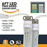 6FT LED Refrigeration Cooler Lights - LED Powered Double-Sided Walk-in Cooler Lights - (UL + DLC) - (25 Pack)