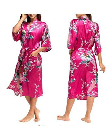 Silk Kimono Robe Bathrobe Women Satin Robe Silk Robes Night Sexy Robes Night Grow for Bridesmaid Summer,As The Photo Show,4XL