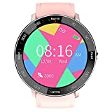 Smart Watch Fitness Tracker, Waterproof Sports Fitness Watch con Step Counter Calories Counter Activity Tracker, Orologi Intelligenti Touch Completi, per Gli Uomini Donne Bambini,Rosa
