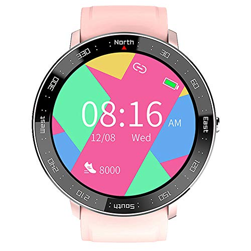Mengen88 Smart Watch Fitness Tracker, Waterproof Sports Fitness Watch with Step Counter Calories Counter Activity Tracker, Relojes Touch Touch Completos, para Hombres Mujeres Niños,Rosado