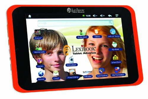 Lexibook Tablet Advance – Il Tablet Android da 8 Pollici per Bambini – Browser Internet Sicuro, Giochi, e-Book, Grande Schermo da 8 Pollici, Fotocamera – Bianco Arancione – MFC180EN