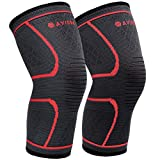 AVIDDA Knee Support Brace 2 Pack - Compression Knee Sleeves for Arthritis, Joint