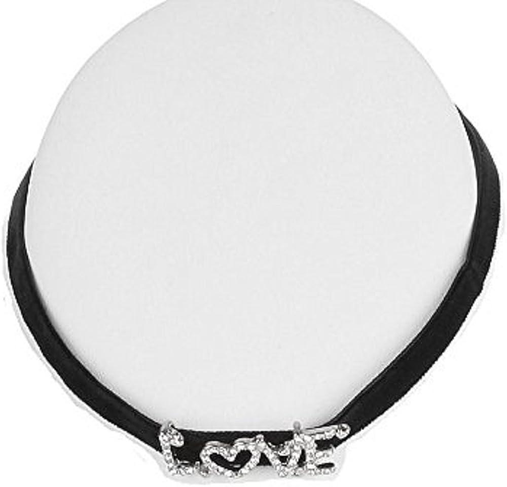 Black Velvet Collar Choker Time sale Crystal Pendant Ne Love Message Charm Super popular specialty store