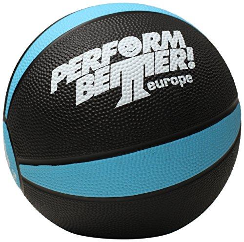 Perform Better Erwachsene Medizinball 1kg, schwarz/Türkis, 21 cm