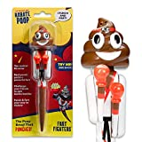 Karate Poop - Punching/Farting/Boxing Pen - Poop Emoji Poop Toy - Real Fighting & Fart Sounds – Control the Levers to Make His Arms Punch - Funny Gifts for Kids & Teens - Poop Games - Funny Pens