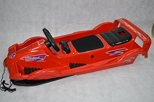 AlpenGaudi Bob für Zwei Double Race Rot 114 x 55 x 28 cm Zweisitzer Schnee Schlitten Neuware in OVP