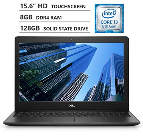 2019 Newest Dell Inspiron 15 15.6' HD LED-Backlit Touchscreen Laptop, Intel Core i3-8145U Processor up to 3.90GHz, 8GB RAM, 128GB Solid State Drive, HDMI, Wireless-AC, Bluetooth, Windows 10, Black