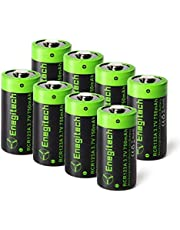 Enegitech 8個&4個 RCR123A充電池 Arloカメラ用, 8個 CR2 3V 800mAh, 8個 CR123A 3Vリチウムバッテリ1600mAh非充電式