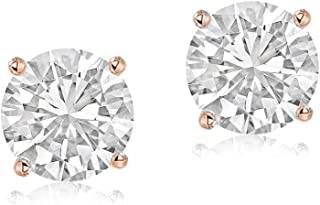 100% Real Diamond Solitaire Earrings IGI Certified Diamond Earrings Made in USA 1/6 ct to 1 ct Lab Created Real Diamond Earring For Women Lab Grown Diamond Stud Earrings 14K Gold S-1 Gifts For Women