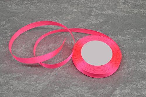 TARA-Dekoration 32m Satinband 12mm (0,06€ / m) / Deko Band Schleifenband Dekoband Geschenkband Hochzeit Komunion (040 - Pink)
