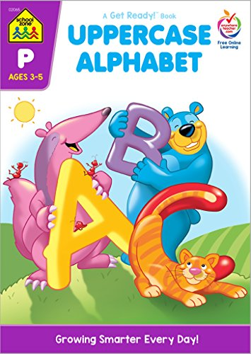 School Zone - Uppercase Alphabet Workbook - Ages 3 to 5, Preschool to Kindergarten, ABC's, Letters, Tracing, Printing, Writing, Manuscript, and More (School Zone Get Ready!™ Book Series)