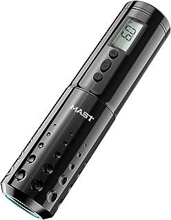 Mast Tattoo Pen Machine Draadloze Batterij LCD Display Rotary Tattoo Machine Zwart Kleur