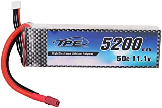 High Discharge Lithium Polymer, 5200mAh 11.1V 50C 3Cell LiPo RC Battery Pack with Hard Case Deans Plug for RC Car Truck Truggy Buggy Tank Helicopter RC Airplane Helicopter Boat Car Racing