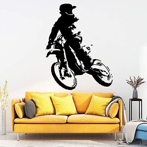 wopiaol Spaß Motorrad Wandaufkleber PVC Wandkunst Aufkleber Moderne Mode Wandaufkleber für Wohnzimmer Dekoration Aufkleber Haus Dekora