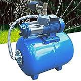 Hauswasserwerk Wasserpumpe Garten 1300W Hauswasserautomat Gartenpumpe, 3000 L/h Fördervolumen, 100L...