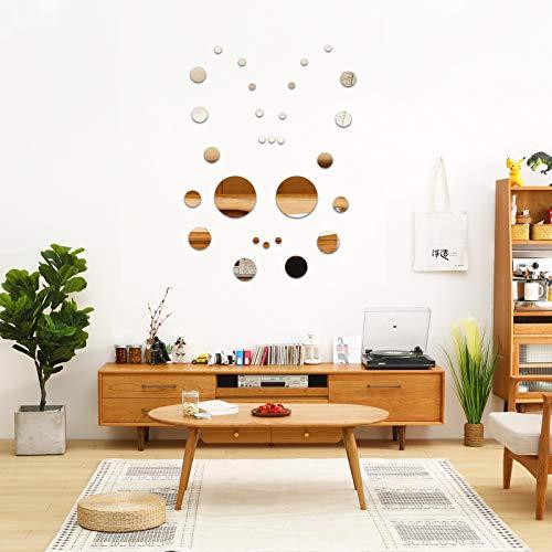 Adhesivos de pared de espejos, 119,9 x 30 cm, costura de espejo y pasta de espejo de vestir, dormitorio combinado, espejo de piso de espejo de longitud completa, para decoración del hogar (n.º 4)