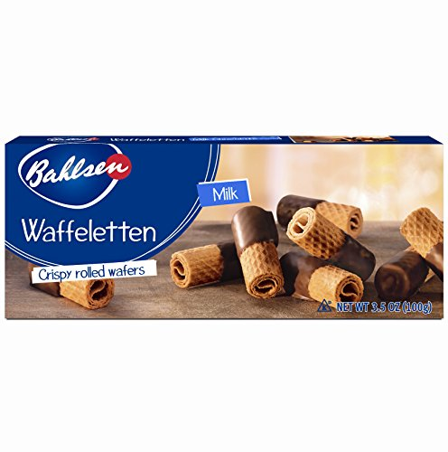 Bahlsen Waffeletten Milk Chocolate Dipped Cookies (12 boxes) - Delicate wafer rolls dipped in milky European chocolate - 3.5 oz boxes