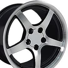 OE Wheels 18 Inch Fits Chevy Camaro Corvette Pontiac Firebird C5 Deep Dish Style CV05 Gloss Black Machined 18x9.5 Rim Hollander 5122