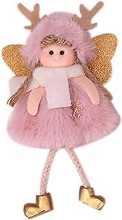LIOOBO Chapeau Rose Ange Suspendu en Peluche poupée de noël Pendentif décoration décor de noël