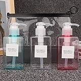 4 tipos 3pcs / set Botellas de aerosol de maquillaje vacías reutilizables portátiles Lociones Crema Botellas de viaje Juego y bolsas de aseo [3#], contenedores de tamaño de viaje Botellas y contenedo