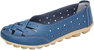 Women Shoes,Boomboom Soft Lady Flats Sandal Leather Ankle Casual Slipper Single Shoes