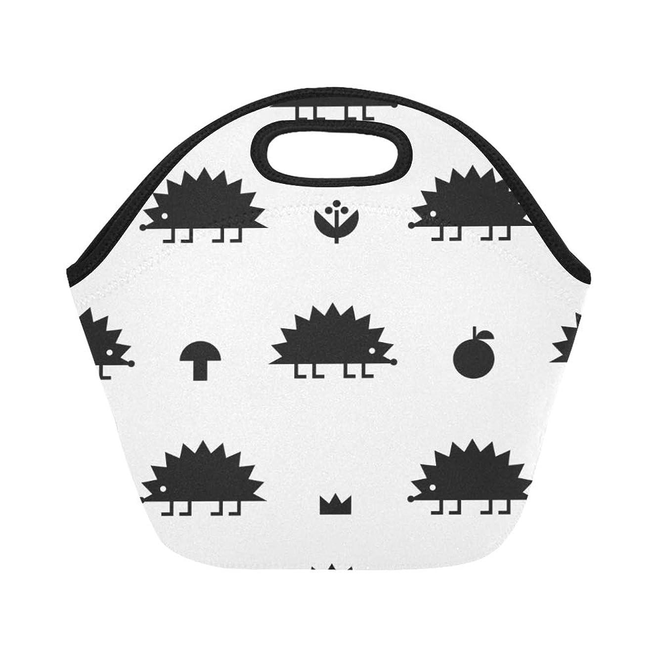 リボンロッカー一見XHQZJ ランチバッグ 小柄 ハリネズミ 弁当袋 お弁当入れ 保温保冷 トート 弁当バッグ 大容量 トートバッグ