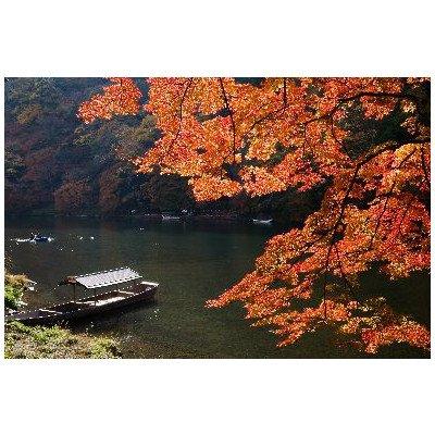 京都嵐山の紅葉のポストカード葉書はがきハガキ Photo by絶景.com