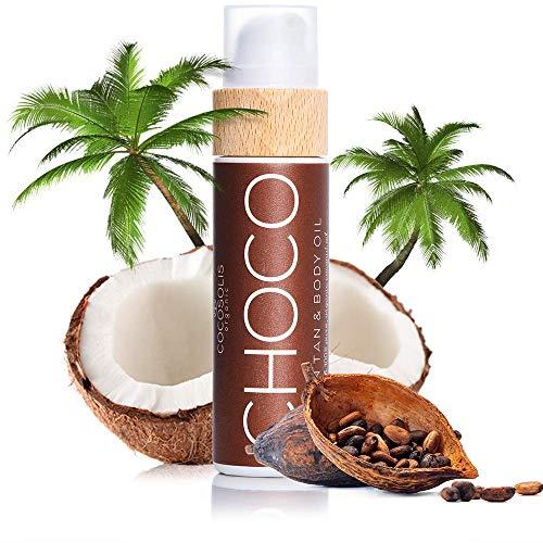 COCOSOLIS Choco - Huile bronzante chocolat, huile Bio pour u