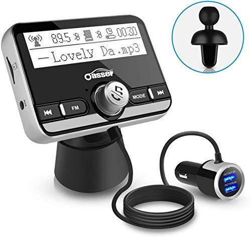 Oasser Transmisor FM Bluetooth Coche Manos Libres