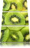 Grüne Kiwis Obstsalat 3-Teiler Leinwandbild 120x80 Bild