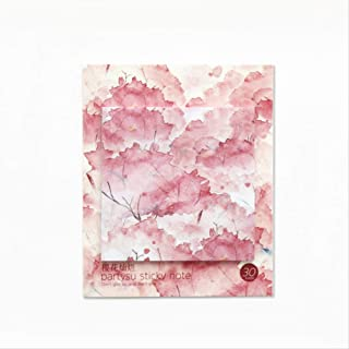 Sticky Notes 3x3 inch Paste Small Fresh Note Paper N Times Paste Pepsi Post Note Book Index Note Note Small Book Cherry Blossoms
