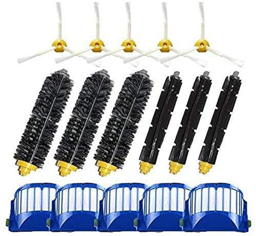 WDGNY Accesorios de limpieza Kit de accesorios de repuesto compatible con Irobot Roomba 500 600 Series 550 595 610 620 630 650 670 Robot Aspiradora Kit de cepillo de accesorios