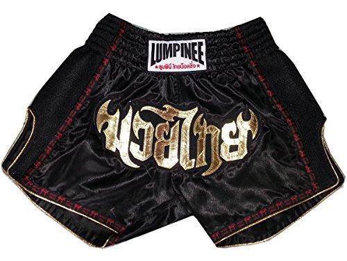 Lumpinee Retro Muay Thai Boxeo Tailandes Pantalones LUMRTO-003-Black size XXL