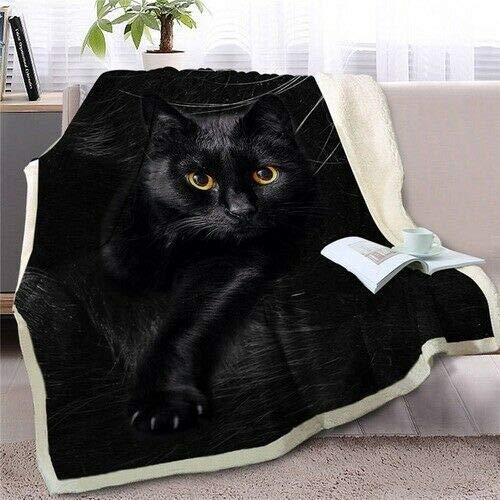 Grumpy Cat Blanket TH154, Adult Sherpa Fleece Throw Blankets Bedding Blanket Reversible -Decorative Blanketed - Artwork Sherpa Blanket - Best Gift 2019