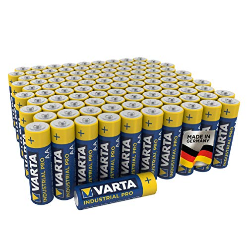 VARTA Industrial Batterie AA Mignon Alkaline Batterien LR6 - 100er pack, Made in Germany