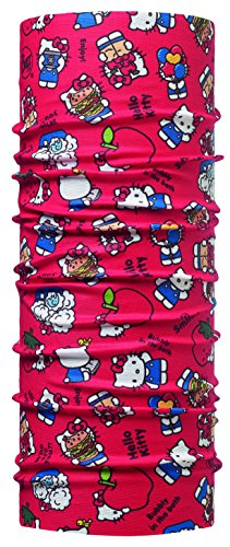 BUFF ENFANT Foulard Multifonctionnel HELLO KITTY Burger, rouge, Polyester, taille 2-4