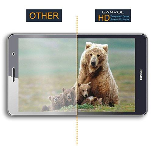 Ganvol Panzerglas für Huawei MediaPad T3 8 WiFi 20,3 cm (8,0 Zoll) Schutzfolie Huawei MediaPad T3 8 LTE 20,3 cm (8,0 Zoll) Panzerfolie Hartglas Glasfolie Glas Folie Panzerglasfolie - 3