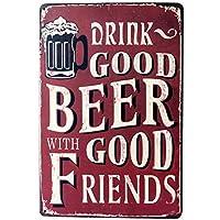 Friends Beer Good 金属板ブリキ看板警告サイン注意サイン表示パネル情報サイン金属安全サイン