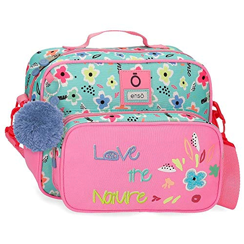 Enso Love The Nature Neceser con Bandolera Adaptable Multicolor 26x20x13 cms Poliéster