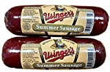 Usinger's Old World Summer Sausage 100% Natural Meat, Charcuterie, High protein, Low Carb, Keto Friendly, Gluten Free, Ready to Eat & Enjoy! pack of {2} - 8oz ea. total of 16oz.